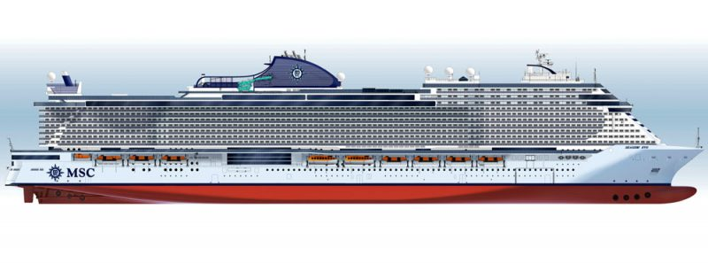 MSC Seaside EVO Class Rendering