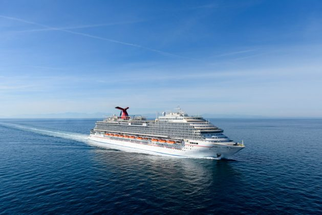 Carnival Horizon During Sea Trials