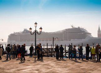 Big Cruise Ship in Venice