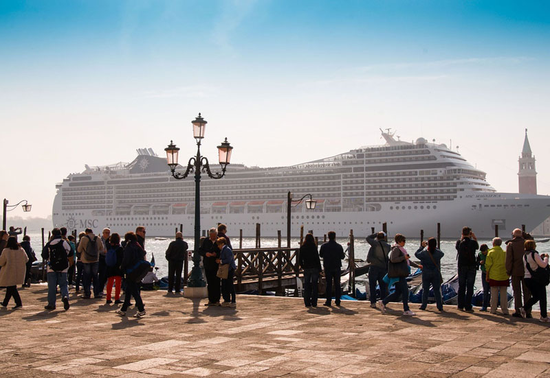 Big Cruise Ship in Venice