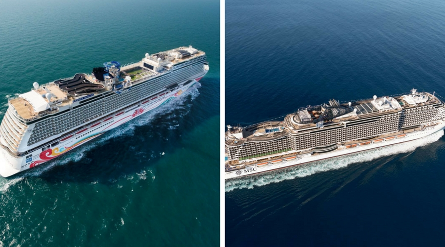 Norwegian Joy And MSC Seaside Draw For Best New Cruise Ship Of - Cruise ship drawings