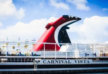 Carnival Vista Cruise Ship in Port