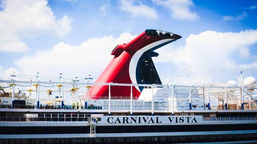 Carnival Vista Cruise Ship in Port