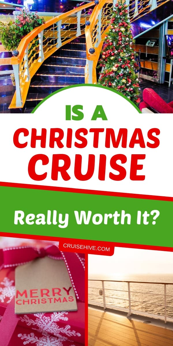 How about a Christmas cruise? No need to put up your own Christmas decorations and can even stay away from all those gifts during your cruise vacation.