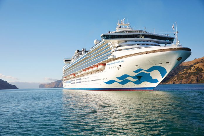 Diamond Princess in New Zealand