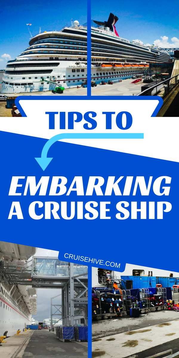 Insider cruise tips for embarking a ship with travel paperwork, avoiding lines and even the best arrival times to begin your vacation.