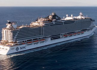 MSC Seaside at Sea