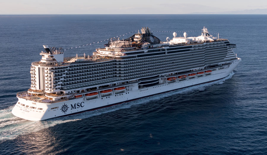 New MSC Seaside Cruise Ship Arrives in Miami for First Time