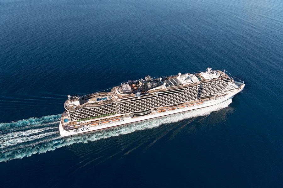 MSC Seaside Sailing at Sea