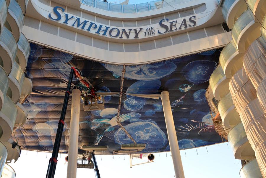 Symphony of the Seas December Construction