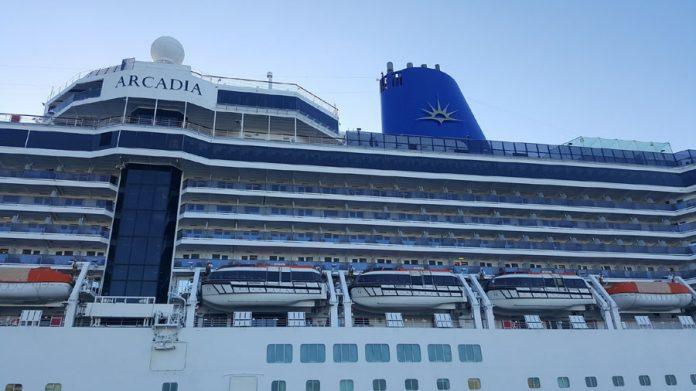 P&O Arcadia Cruise Ship in Port