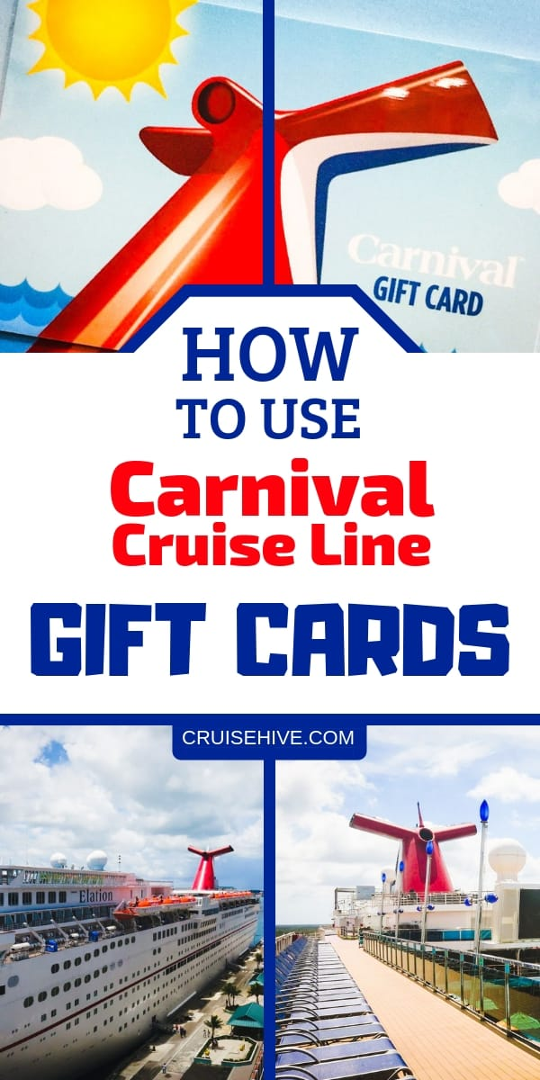 Carnival cruise tips on using gift cards for your cruise vacation.