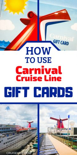 If you've received one of these travel gifts then here's how to use  the Carnival gift cards for your vacation.