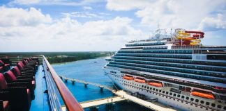 Carnival Cruise Ship in Caribbean Port
