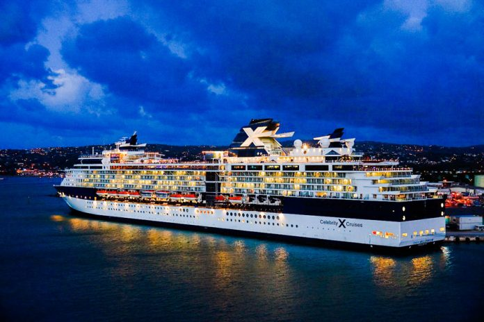Celebrity Cruise Ship in Port