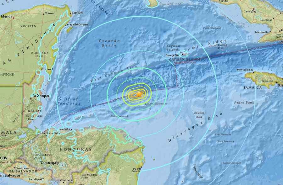 Western Caribbean Earthquake