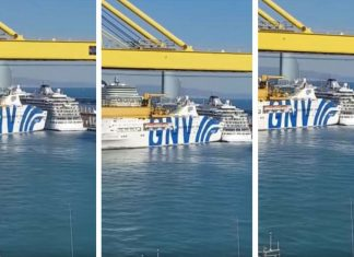 Fantastic Ferry Hits Viking Star Cruise Ship