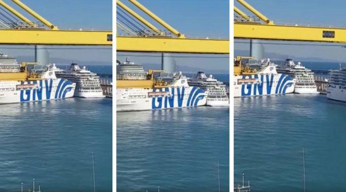 Fantastic Ferry Hits Viking Star Cruise Ship