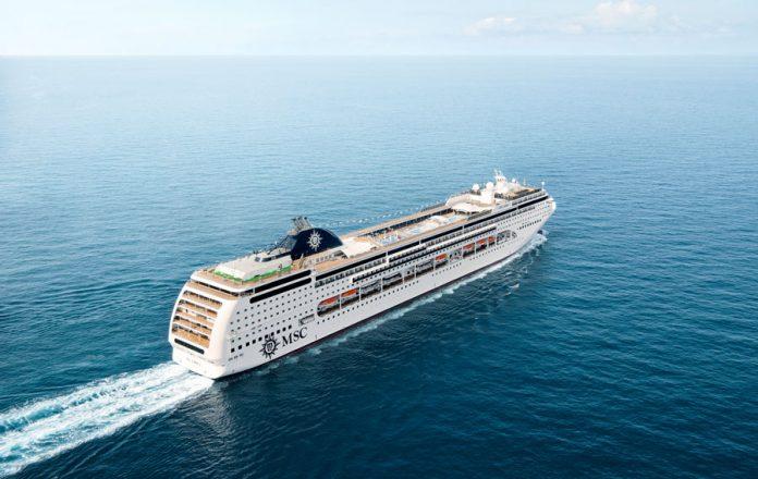 MSC Lirica at Sea
