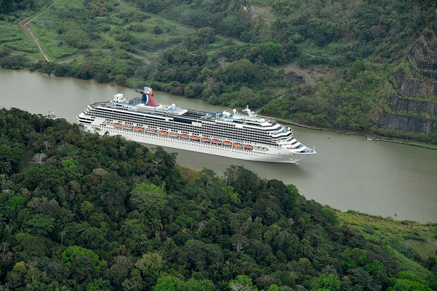 Two Carnival Cruise Ships Transit Panama Canal For New