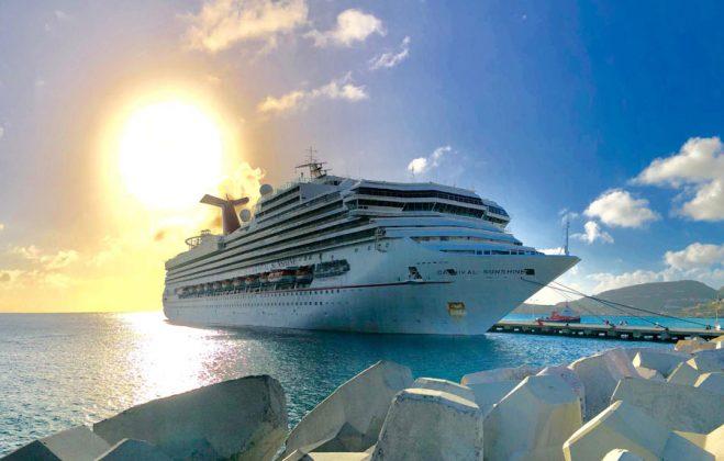 Carnival Sunshine Calls in St. Maarten