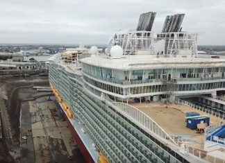 Drone Footage of Symphony of the Seas