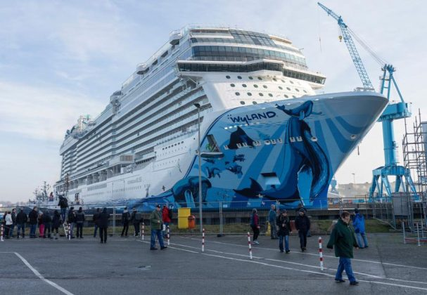Norwegian Bliss Floats Out at Meyer Werft