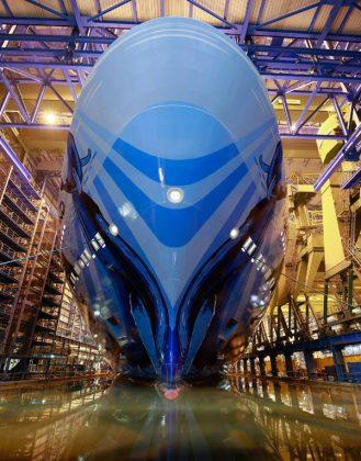 Norwegian Bliss Floats Out at Meyer Werft