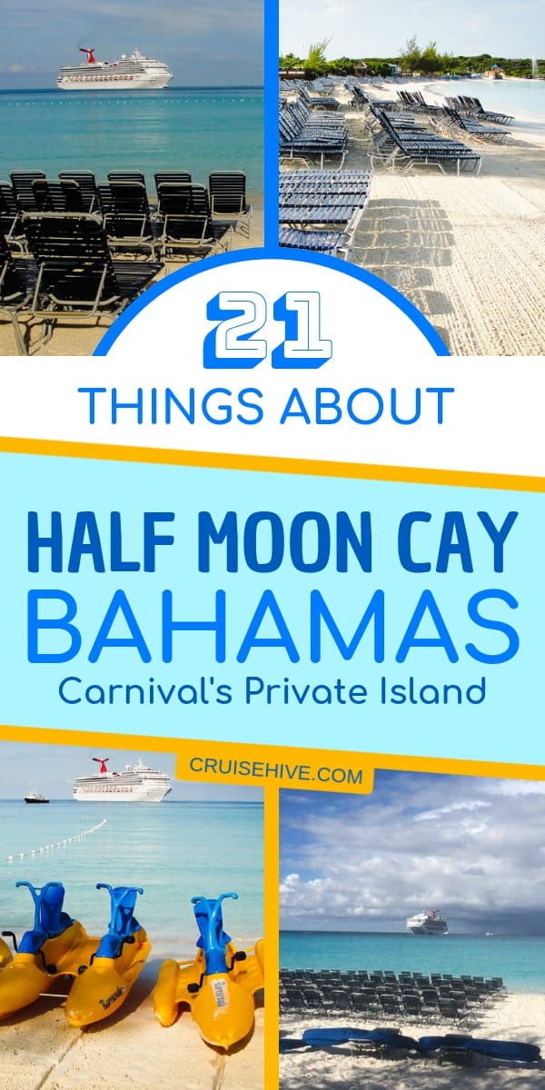 Find out more on things to do in Half Moon Cay, Bahamas, a private island travel destination by Carnival Cruise Line.