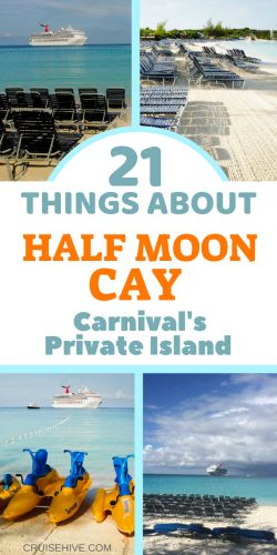 Have a read of this detailed travel guide about the Carnival Cruise Line private island of Half Moon Cay, Bahamas.