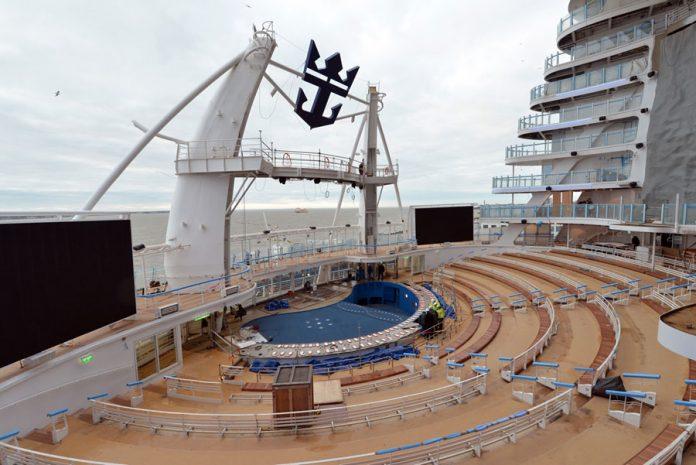 Symphony of the Seas February Construction Photos