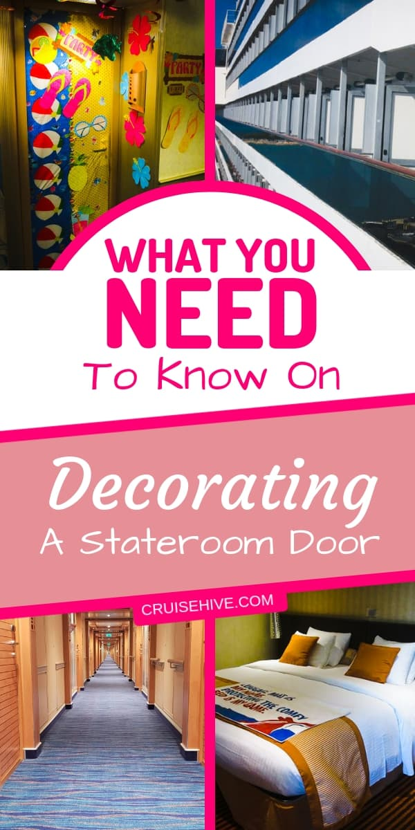 Decorating ideas for a cruise ship cabin door. Cruise tips on being creative during your cruise vacation.