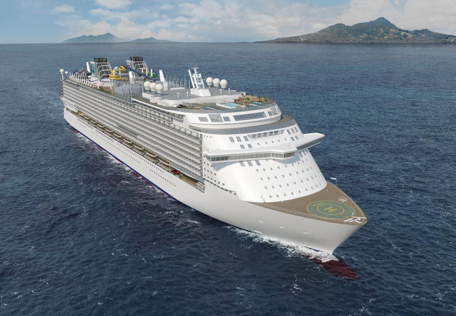 Global Class Cruise Ship Rendering