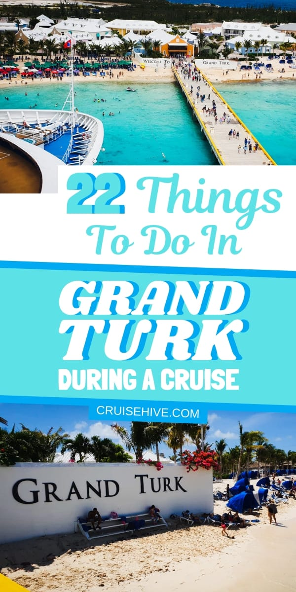 Some of the best things to do in Grand Turk, Turks and Caicos. Aimed at cruise ship visitors to the island including excursions and the cruise port.