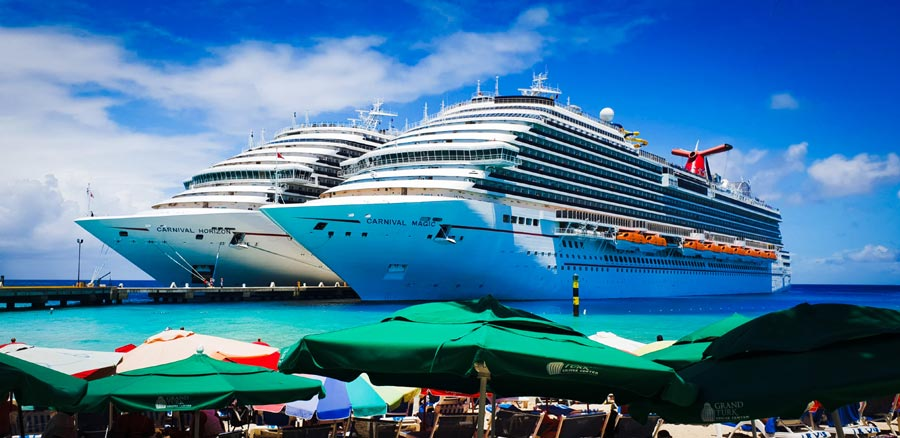 Carnival Cruise Ships Docked in Grand Turk
