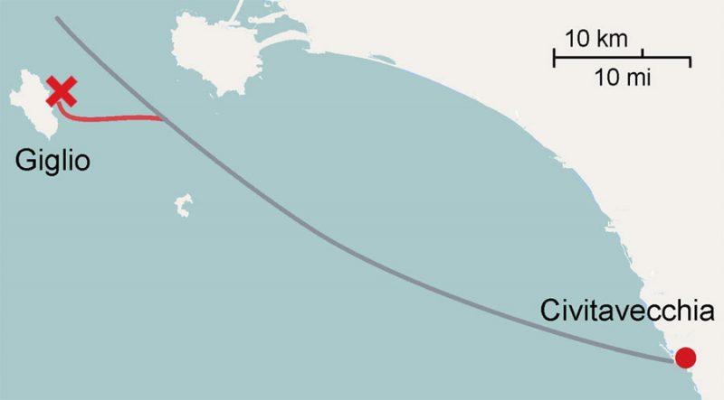 Costa Concordia Itinerary