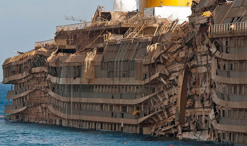 Costa Concordia Wreckage