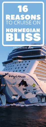 Here are the reasons why you should take and book a cruise on Norwegian Bliss. Covering the Breakaway-Plus class ship's itineraries, race track, bars and restaurants to keep any type cruiser busy during the entire cruise vacation.