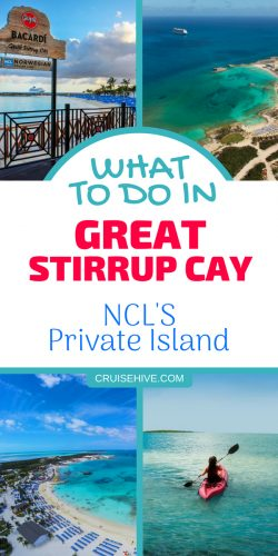 If you're planning to travel with Norwegian Cruise Line then you could visit their private island. Here are things to do in Great Stirrup Cay, Bahamas.