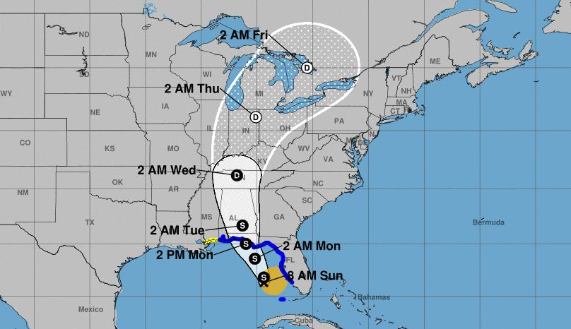 Subtropical Storm Alberto heads to southern states