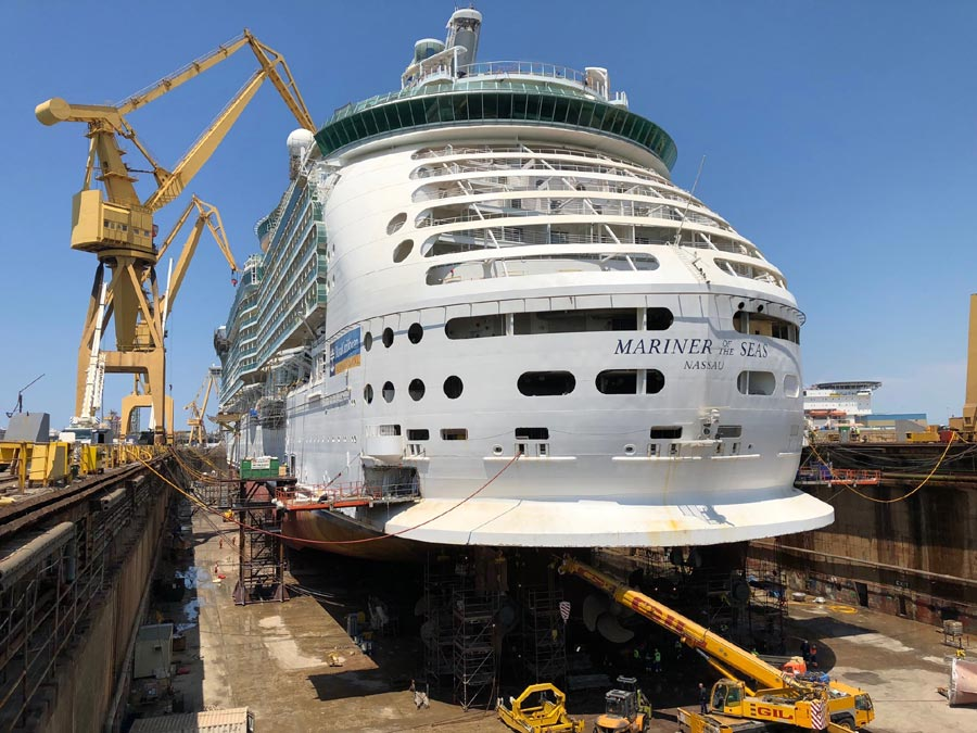 Mariner of the Seas Cadiz Dry Dock