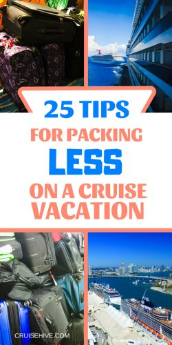 If you're planning a cruise vacation then here are some travel tips for packing less.