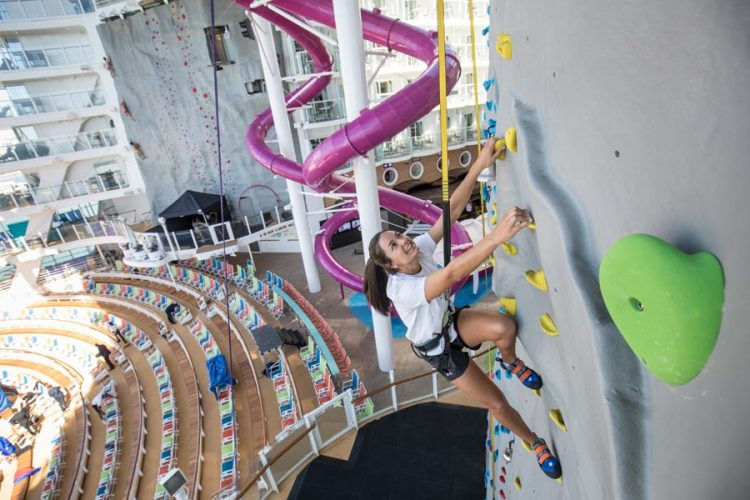 Symphony of the Seas Rock Climbing