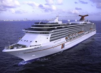 Carnival Spirit At Sea
