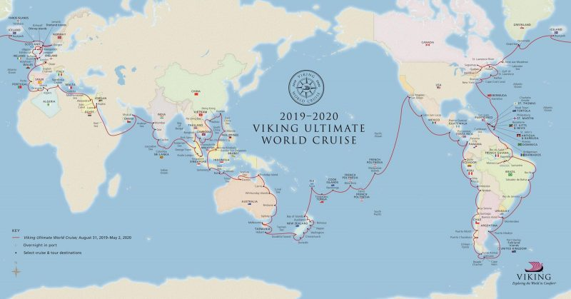 Ultimate World Cruise Itinerary Map