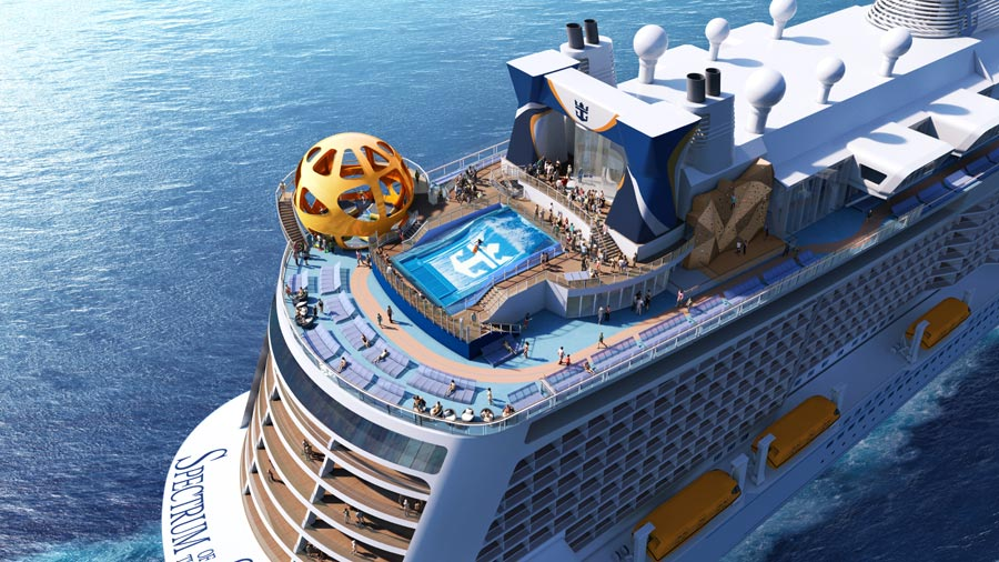 Spectrum of the Seas Aft Rendering