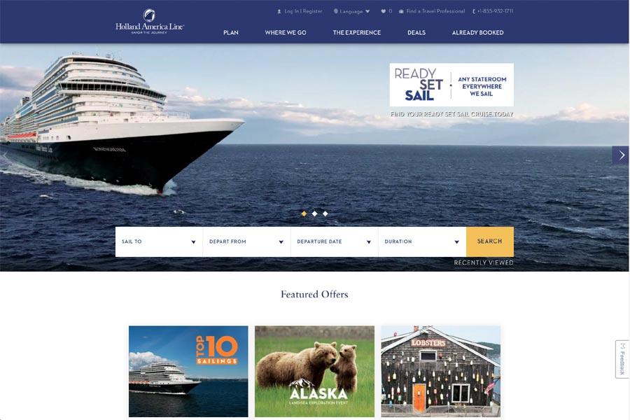 New Holland America Website
