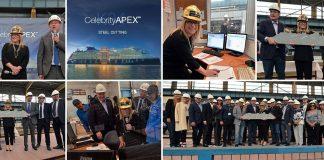 Celebrity Apex Cruise Ship Steel Cutting