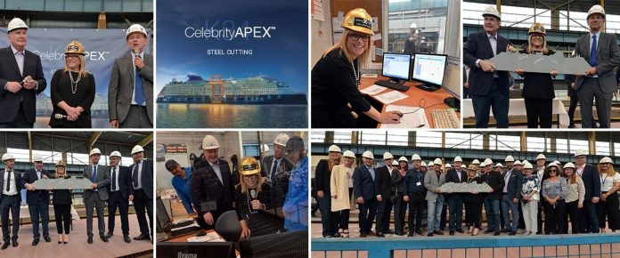 Celebrity Apex Cruise Ship Steel Cutting