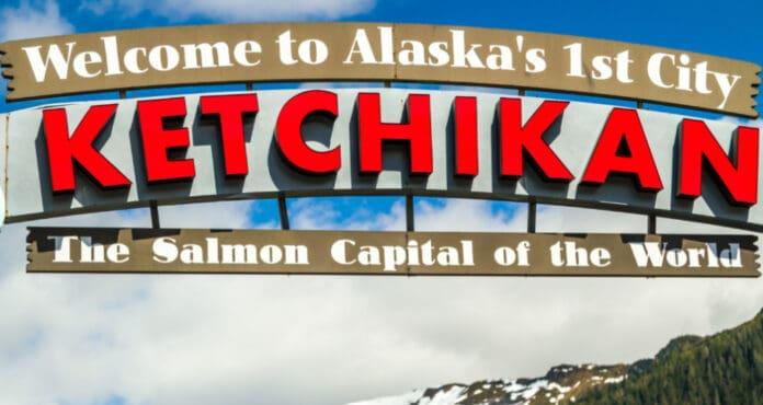 Ketchikan, Alaska Welcome Sign
